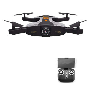 AHAHOO RC Drone Foldable Wifi FPV Quadcopter 2.4Ghz 4 Channels RC Helicopter Drone with 2MP 720P HD Camera LED Lights