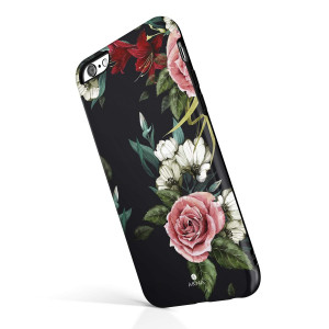 iPhone 6/6s case Girls, Akna Collection High Impact Flexible Silicon Case Both iPhone 6 and iPhone 6s [Roses Lilies](750-U.S)