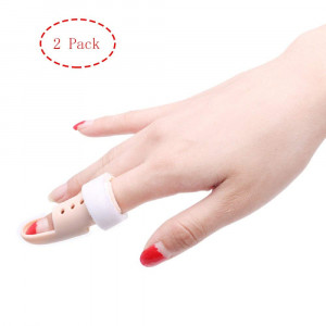 Thinvik 2X Plastic Mallet Dip Finger Support Brace Splint Joint Protection Injury - Knuckle 48-53mm