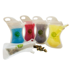 Reusable Food and Drink Pouch Container - Sealable, Eco-friendly, Heavy-Duty Smoothie Bags for On-The-Go Consumption | Stores Juices, Purees, Snacks, Cocktails and More | 10-10oz Plastic Squeeze Pouches