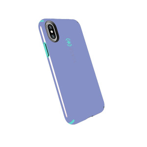Speck Products Compatible Phone Case for Apple iPhone XS and iPhone X, CandyShell Case, Wisteria Purple/Mykonos Blue