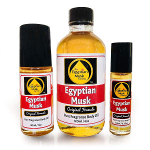 Egyptian Musk Oil, Choose from Roll On to 0.33oz - 4oz Glass Bottle, by WagsMarket - The Egyptian Musk Factory (0.33oz Roll On)