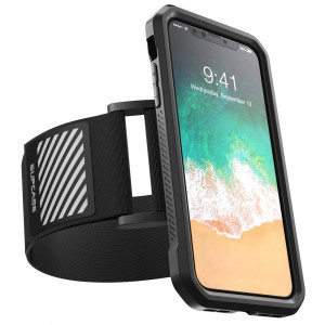 SUPCASE iPhone X, iPhone Xs Armband, SUPCASE Easy Fitting Sport Running Armband Case for Apple iPhone X 2017/iPhone XS 2018 Release (Black)