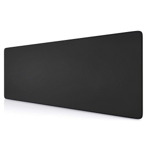 Extended Gaming Mouse Pad, Ktrio Mousepad Computer Mouse Mat Desktop Mouse Pad Keyboard Pad Non-Slip Rubber Base Water Resistant Stitched Edge for Gaming Office Work 31.5 x 11.8 x 0.12 inches, Black