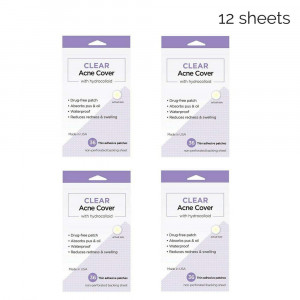 144 Count - Clear Acne Cover with Hydrocolloid (Pimple Absorbing Patch/Sticker)