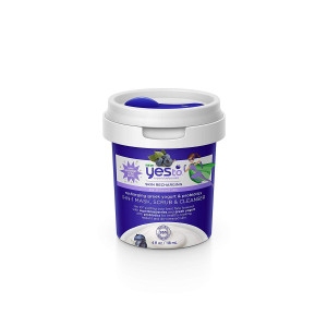 Yes To Super Blueberries Recharging Yogurt and Probiotics 3-in-1 Mask, Scrub and Cleanser, 4 Fluid Ounce