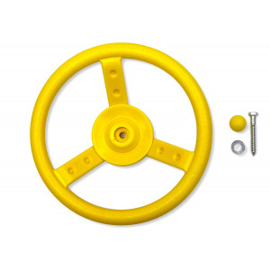 Eastern Jungle Gym Plastic Toy Steering Wheel Swing Set Accessory for Wood Backyard Play Set, Yellow