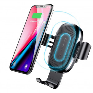 Wireless charger, Baseus Cell Phones Accessories Car Mount, Air Vent Phone Holder 10W Charge for Samsung Galaxy S8, S7/S7 Edge, Note 8 5 and 5W Standard Charge for iPhone X, 8/8 Plus and Qi Certified