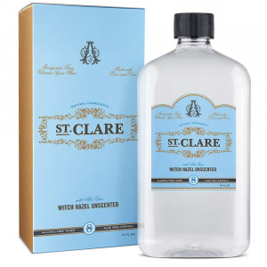 St Clare Alcohol-Free Witch Hazel 16oz  Unscented Aloe Vera Natural Toner for Face and Skin