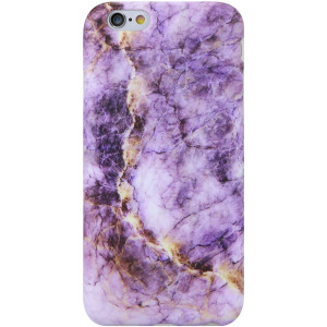 VIVIBIN iPhone 6 Case,iPhone 6s Case,Cute Purple and Gold Marble for Women Girls Clear Bumper Best Protective Soft Silicone Rubber Matte TPU Cover Slim Fit Best Phone Case for iPhone 6/iPhone 6s