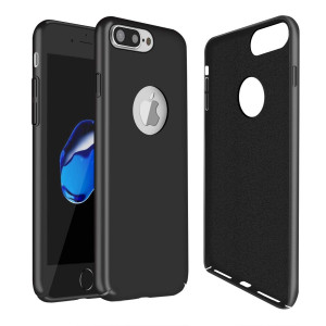 Molzar Magnetic iPhone 7 Plus Case, Ultra Thin and Matte Surface Phone Case [Built-in Invisible Metal Plate] Work with Magnet Car Phone Mount Compatible with Apple iPhone 7 Plus, Black