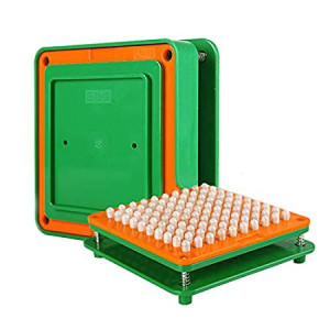 wananfu 100 Holes (0#) Capsule Holder With Tamper for Size 0 capsules Holding Tray Pill Dispensers and Reminders Green