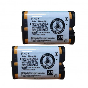 3.6v 700mAh HHR-P107 Rechargeable Cordless Phone Battery Compatible with for Panasonic HHR-P107 HHRP107 HHR-P107A HHRP107A Cordless Telephone (Pack of 2) BAOBIAN