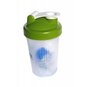 Protein Shaker Bottle w/Metal Ball,16oz BPA Free Classic Loop Top (Single)