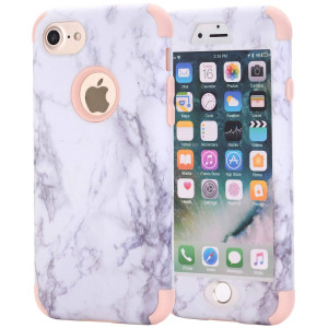 AOKER iPhone 7 Plus Case, iPhone 8 Plus Case, [Marble Design] Three Layer Shockproof Anti-Scratch Full-Body Protective Armor Defender Protective Case Cove for Apple iPhone 7 Plus /8 Plus (Rosegold)