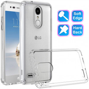 LG Tribute Dynasty Case, LG Aristo 2 Case/Aristo 2 Plus, LG Zone 4 Case, LG K8 2018 Case / K8 Plus, LG Fortune 2 Case, LG Risio 3 Case, GSDCB Phone Case with Air Cushion for Women Men Girl Boy Clear