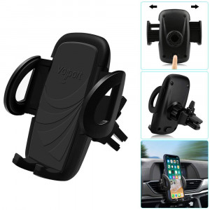 Universal Adjustable Air Vent Car Mount, 360 Rotating Air Clip Phone Holder Cradle for iPhone Xs MAX XR X 8 8plus SE 7 6 6s Samsung Galaxy S9 +S8 S7 Note 9 Note 8 Note 7 J7 J5 Huawei Honor Google