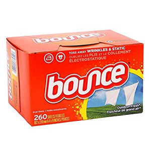 Bounce Fabric Softener Dryer Sheets, Outdoor Fresh - 260 Sheets