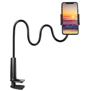 "Gooseneck Phone Holder, PEYOU 33"" Flexible Long Arm Cellphone Mount Stand Desk Bed Lazy Clip,360 Rotating Bracket Compatible for iPhone XS Max XR X 8 7 6 6s Plus,for Samsung Galaxy Note 9 8 S9 S8 Plus"