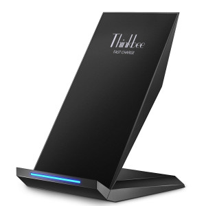 Thinkbee Fast Wireless Charger,Qi Certified 10W Fast Charging Stand Compatible Galaxy S9/S9 Plus/S8/S8 Plus/S7 Edge/S7/Note 9/8,Standard Charger Pad Station Compatible iPhone XS Max/XS/XR/X/8/8 Plus