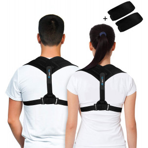 Premium Back Support Brace and Posture Corrector for Men and Women, an Ultimate Solution for Kyphosis, Shoulder Support, High Back and Neck Pain Relief, With a BONUS of Underarm Pads by BRANFIT.