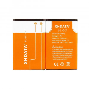 XHDATA BL-5C 3.7V 1500Mah Rechargeable Battery for Radio2 Pieces