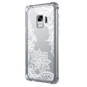 Cutebe Galaxy S9 Case,Shockproof Series Hard PC+ TPU Bumper Protective Case for Samsung Galaxy S9 Crystal