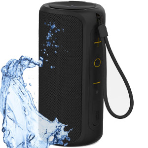 Aneerx Portable Bluetooth Speakers 100% IPX7 Waterproof, 12W Dual Drivers and Rich Enhanced Bass, Built in Mic for Hands Free Calling, Surround Outdoor Loud Wireless Speaker, 360 Sound, Home, Shower
