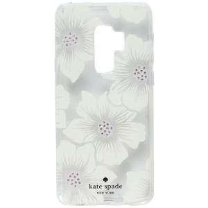 kate spade new york Protective Hardshell Case for Samsung Galaxy S9+ - Multi Hollyhock Floral Clear / Cream with Stones