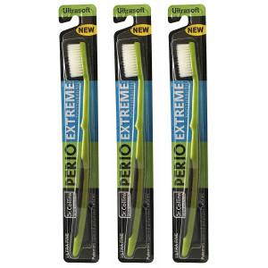 Dr. Collins Perio Extreme Toothbrush, (colors vary), (Pack of 3)