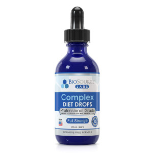 BioSource Labs Complex Diet Drops: Lean Weight Loss Drops for Rapid Weight Loss| Slenderizing Drops to Boost Your Weight Loss Meal Plan| Best Natural Metabolism Booster for Men and Women| 2 oz Bottle