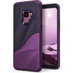 Ringke [Wave] Compatible with Galaxy S9 Case [Metallic Purple] Dual Layer Heavy Duty 3D Textured Shock Absorbent PC TPU Full Body Drop Resistant Protection Cover for Samsung Galaxy S 9 (2018)