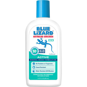 Blue Lizard Australian Sunscreen - Active Sunscreen SPF 30+ Broad Spectrum UVA/UVB Protection - 8.75 oz Bottle