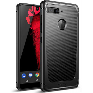 Essential Phone Case, Poetic Karbon Shield [Shock Absorbing] Slim Fit TPU Case with [Carbon Fiber Texture] for Essential Phone PH-1 Black