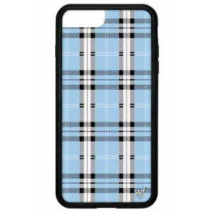 Wildflower Limited Edition iPhone Case for iPhone 6 Plus, 7 Plus, or 8 Plus (Blue Plaid)