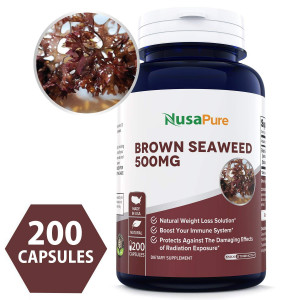 Best Brown Seaweed Extract 500mg 200 Capsules (NON-GMO and Gluten Free) - Fucoidan - Natural Dietary Supplement For Weight Loss and For Boosting Your Immune System 100% MONEY BACK GUARANTEE!