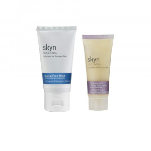 skyn ICELAND Glacial Face Wash and Antidote Cooling Daily Lotion, 0.5 oz.