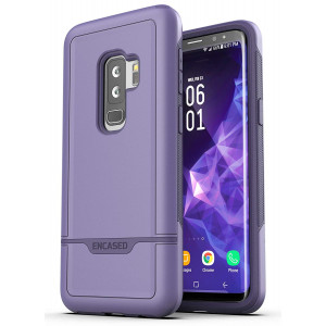 Galaxy S9 Plus Tough Case, Encased [Rebel Series] Rugged Case Samsung Galaxy S9+ (2018 Release) Military Spec Armor Protection (Deep Purple)