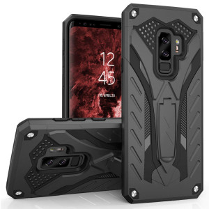 Zizo Static Series Compatible with Samsung Galaxy S9 Plus Case Military Grade  Drop Tested with Built in Kickstand Black
