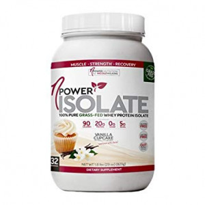 nPower Nutrition | 100% Pure Grass Fed Whey Protein Isolate, Enzymes, All Natural Sweeteners | Vanilla Cupcake | 32 Servings ...