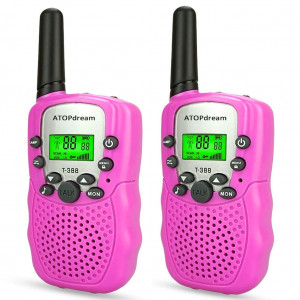 TOP Gift Handheld Walkie Talkies for Kids 2 Mile Range Built in Flash Light Hunting Accessories TGDJ888 Best Gifts