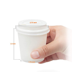 GOLDEN APPLE, Disposable Paper Coffee Cups 4 oz. Cups and Lids Quantity 50 Cups per Pack.