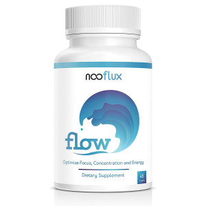 The Flow State Supplement - Increase Focus, Energy, Mood and Mental Clarity - Great for Yoga, Meditation, PreWorkout - Rhodiola Alpha GPC Vinpocetine L Theanine - Flow by Nooflux