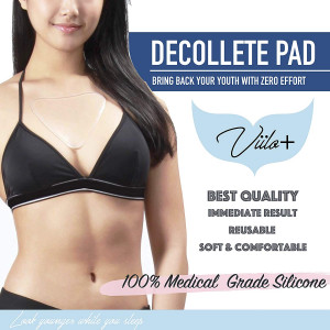 Anti-Wrinkle Chest Pad for Sun Damage Repair and Wrinkle Prevention, Wrinkle Repair for Chest Wrinkles, Reusable Silicone Dcollet Pad, Overnight Anti-Wrinkle Treatment Chest Pads for Women