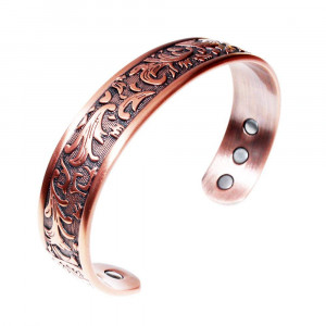 LONGRN Copper Bracelet Used for Arthritis - a Pure Copper Magnetic Bracelet with 6 Magnets for Men and Women to Effectively Relieve Joint Pain.