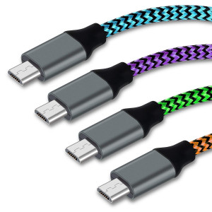 Micro USB Cable,4 Pack 10FT High Speed USB to Micro USB Charging Cables Nylon Braided Cord Aupek Android Charger Cord for Samsung Galaxy S7 Edge/S6/Note 5,HTC,PS4,XBOX/Camera(Blue Green Orange Purple)