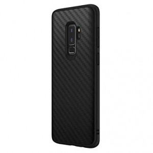 RhinoShield Case Galaxy S9 Plus [SolidSuit] | Shock Absorbent Slim Design Protective Cover - Compatible w/Wireless Charging [3.5M / 11ft Drop Protection] - Carbon Fiber