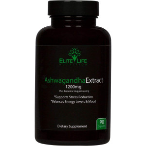 Ashwagandha Extract 1200mg - with Bioperine 5mg - Best Natural Ashwagandha Root Extract for Men and Women - More Bioavailable and Absorbable Than Root Powder - Withania Somnifera Herb - 90 Capsules