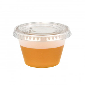 [250 Pack] 4 Ounce BPA-Free Plastic Portion Cup with Clear Lids Disposable Jello Shots Sauce Condiment Souffle Dressing Mini Containers
