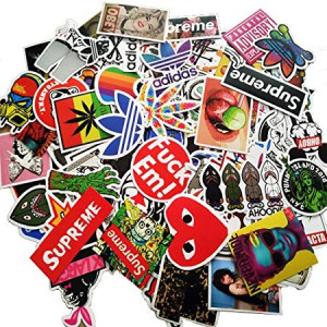 Sticker Pack [100pcs],Sanmatic Sticker Decals Vinyls for Laptop,Cars,Motorcycle,Bicycle,Skateboard Luggage,Bumper Stickers Hippie Decals bomb Waterproof ... (D)